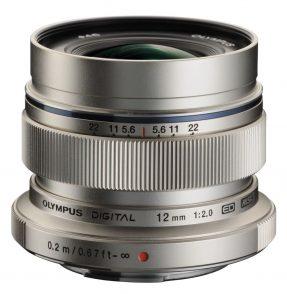 Olympus MFT 12mm F/2.0 zilver ED M.Zuiko Digital