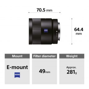 Sony FE 55mm F/1.8 ZEISS Sonnar T* -5552