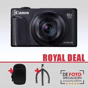 Canon Powershot SX740HS Royal Deal zwart