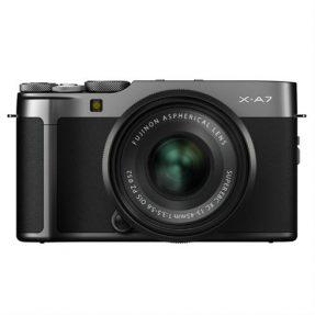 Fujifilm X-A7 dark silver + XC 15-45mm zwart