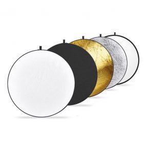 Caruba 5-in-1 Gold, Silver, Black, White, Translucent reflectiescherm 107cm