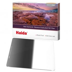 Haida Reverse Graduated ND Filter 4 Stops 100x150mm ND1.2 Red Diamond