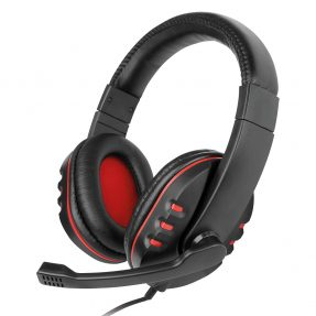 Fontastic NoXx Multimedia Headset zw/rood met microfoon
