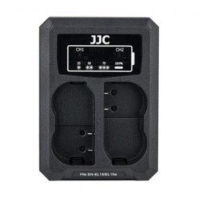 JJC DCH-ENEL15 USB Dual Battery Charger (voor Nikon EN-EL15 accu)