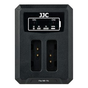 JJC DCH-NB13L USB Dual Battery Charger (voor Canon NB-13L)