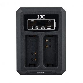 JJC DCH-BLN1 USB Dual Battery Charger (voor Olympus BLN-1)