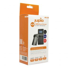 Jupio USB Brand Charger Kit voor JVC/Samsung/Sony 3.6V-4.2V accu's