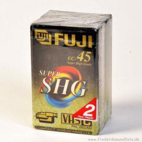 Fuji EC-45 Super SHG VHS-C tape dubbelpak
