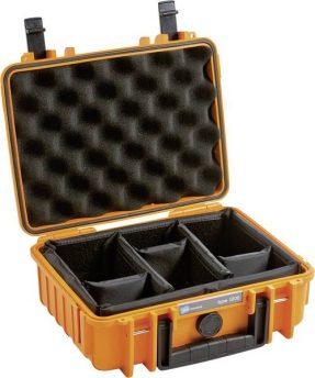 B&W Outdoor Case Type 1 – Oranje met Vakverdeling
