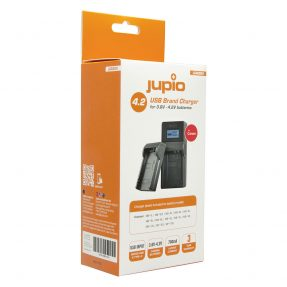 Jupio USB Brand Charger Kit voor Canon 3.6V-4.2V accu's