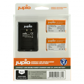 Jupio Sony 2x NP-BX1 Kit USB Dual Charger