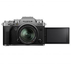 Fujifilm X-T4 zilver met XF 18-55mm