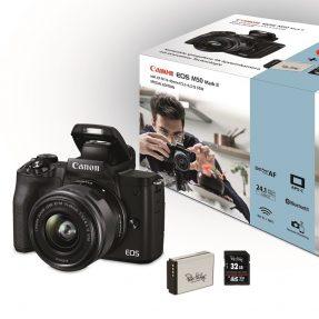 Canon EOS M50 Mark II Zwart + 15-45mm Power Kit