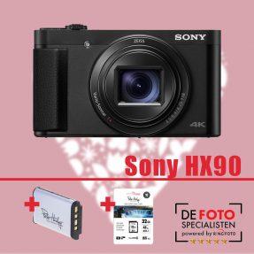Sony Cybershot DSC-HX90 zwart Moederdag aanbieding