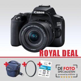 Canon EOS 250D zwart + 18-55mm IS STM Royal Deal
