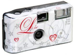 Wegwerpcamera met flits 'liebe' 400 ISO 27 opnames