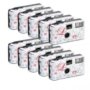 Wegwerpcamera met flits 'liebe' 400 ISO 27 opnames 10 pack